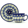 7 oz Stoneware Cup with Saucer - Polmedia Polish Pottery H3534H