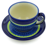 7 oz Stoneware Cup with Saucer - Polmedia Polish Pottery H5248J