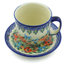 7 oz Stoneware Cup with Saucer - Polmedia Polish Pottery H5260J