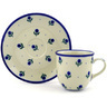 7 oz Stoneware Cup with Saucer - Polmedia Polish Pottery H7677E