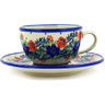7 oz Stoneware Cup with Saucer - Polmedia Polish Pottery H8080D