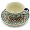 7 oz Stoneware Cup with Saucer - Polmedia Polish Pottery H8488C