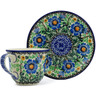 7 oz Stoneware Cup with Saucer - Polmedia Polish Pottery H9292A