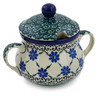 7 oz Stoneware Sugar Bowl - Polmedia Polish Pottery H1595K