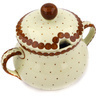 7 oz Stoneware Sugar Bowl - Polmedia Polish Pottery H1794E