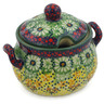 7 oz Stoneware Sugar Bowl - Polmedia Polish Pottery H2328K