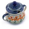 7 oz Stoneware Sugar Bowl - Polmedia Polish Pottery H2869A