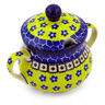 7 oz Stoneware Sugar Bowl - Polmedia Polish Pottery H7299B