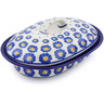 8-inch Stoneware Baker with Cover - Polmedia Polish Pottery H0476J