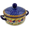 8-inch Stoneware Baker with Cover with Handles - Polmedia Polish Pottery H3367K