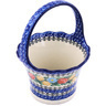 8-inch Stoneware Basket with Handle - Polmedia Polish Pottery H0531G