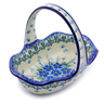8-inch Stoneware Basket with Handle - Polmedia Polish Pottery H0870I