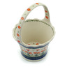 8-inch Stoneware Basket with Handle - Polmedia Polish Pottery H3421I