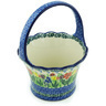 8-inch Stoneware Basket with Handle - Polmedia Polish Pottery H5029H