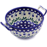 8-inch Stoneware Bowl with Handles - Polmedia Polish Pottery H5086I