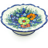8-inch Stoneware Bowl with Pedestal - Polmedia Polish Pottery H5459J