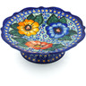 8-inch Stoneware Bowl with Pedestal - Polmedia Polish Pottery H5461J