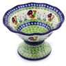 8-inch Stoneware Bowl with Pedestal - Polmedia Polish Pottery H8131I