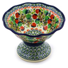 8-inch Stoneware Bowl with Pedestal - Polmedia Polish Pottery H8132I