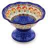 8-inch Stoneware Bowl with Pedestal - Polmedia Polish Pottery H8133I