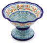 8-inch Stoneware Bowl with Pedestal - Polmedia Polish Pottery H8135I