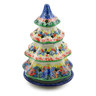 8-inch Stoneware Christmas Tree Candle Holder - Polmedia Polish Pottery H0210G