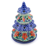 8-inch Stoneware Christmas Tree Candle Holder - Polmedia Polish Pottery H2594I