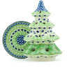8-inch Stoneware Christmas Tree Candle Holder - Polmedia Polish Pottery H5113H