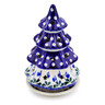 8-inch Stoneware Christmas Tree Candle Holder - Polmedia Polish Pottery H6936C