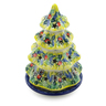 8-inch Stoneware Christmas Tree Candle Holder - Polmedia Polish Pottery H8605I