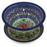8-inch Stoneware Colander with Plate - Polmedia Polish Pottery H2163K