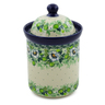 8-inch Stoneware Cookie Jar - Polmedia Polish Pottery H8229J
