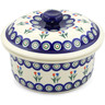 8-inch Stoneware Dish with Cover - Polmedia Polish Pottery H0582D