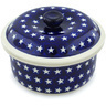 8-inch Stoneware Dish with Cover - Polmedia Polish Pottery H1359H
