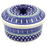 8-inch Stoneware Dish with Cover - Polmedia Polish Pottery H3229D