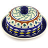 8-inch Stoneware Dish with Cover - Polmedia Polish Pottery H4496E