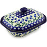 8-inch Stoneware Dish with Cover - Polmedia Polish Pottery H4656G