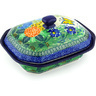 8-inch Stoneware Dish with Cover - Polmedia Polish Pottery H4922G