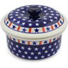 8-inch Stoneware Dish with Cover - Polmedia Polish Pottery H4939E