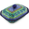 8-inch Stoneware Dish with Cover - Polmedia Polish Pottery H5346G