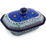 8-inch Stoneware Dish with Cover - Polmedia Polish Pottery H6789G