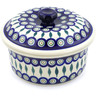 8-inch Stoneware Dish with Cover - Polmedia Polish Pottery H9839C