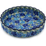 8-inch Stoneware Fluted Pie Dish - Polmedia Polish Pottery H2177H