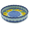 8-inch Stoneware Fluted Pie Dish - Polmedia Polish Pottery H4814H
