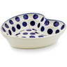 8-inch Stoneware Heart Shaped Bowl - Polmedia Polish Pottery H0973B