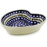 8-inch Stoneware Heart Shaped Bowl - Polmedia Polish Pottery H1250B