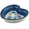 8-inch Stoneware Heart Shaped Bowl - Polmedia Polish Pottery H2685A