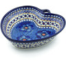 8-inch Stoneware Heart Shaped Bowl - Polmedia Polish Pottery H5179J