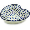 8-inch Stoneware Heart Shaped Bowl - Polmedia Polish Pottery H5601H