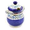8-inch Stoneware Jar with Lid and Handles - Polmedia Polish Pottery H0263K
